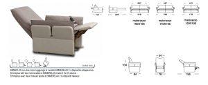 scheda tecnica divano letto Gordon 2